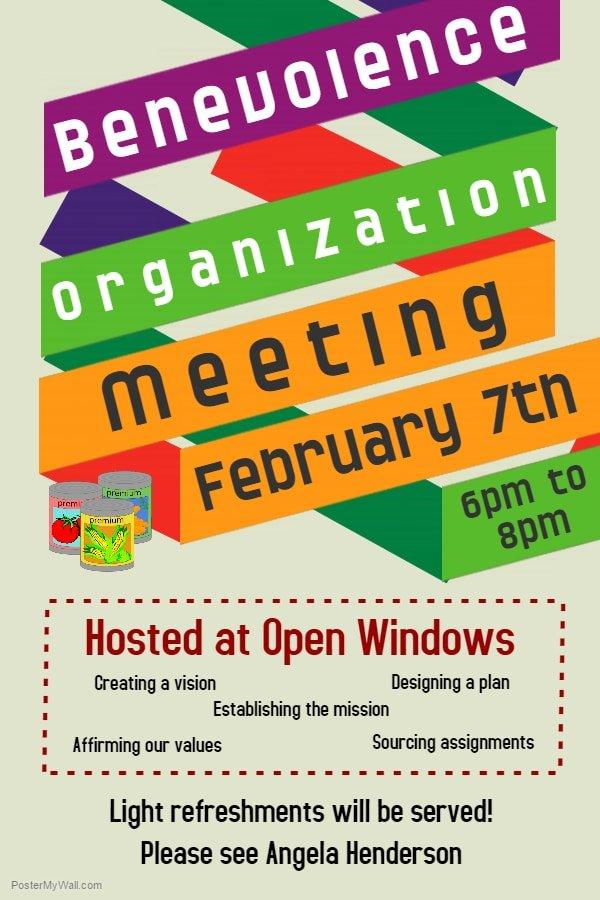 Benevolence Organization Meeting